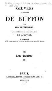 Œuvres complètes de Buffon avec les supplémens: Volume3