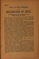 Trial of the Witnesses to the Resurrection of Jesus: A Legal Argument