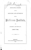 Annual Catalogue of the Officers and Students of the Dickinson Institute  at Romeo  Michigan PDF