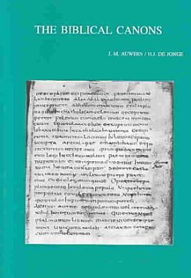 The Biblical Canons PDF