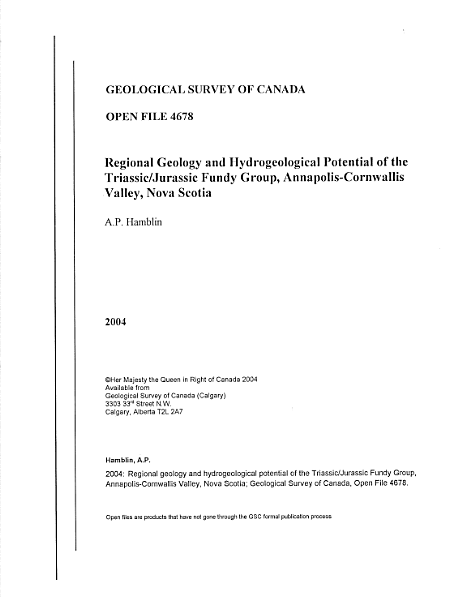 Geological Survey of Canada, Open File 4678