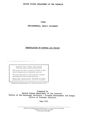 Deregulation of Natural Gas Prices PDF