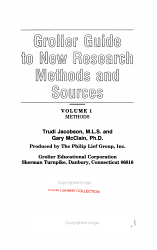 Grolier Guide to New Research Methods and Sources PDF