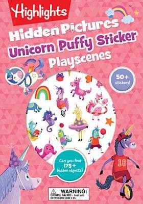 Unicorn Hidden Pictures Puffy Sticker Playscenes