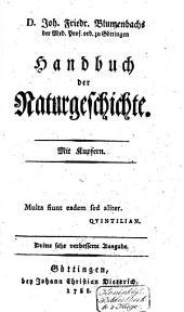 Joh. Friedr. Blumenbachs ... Handbuch der Naturgeschichte