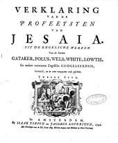 Verklaring van de geheele Heilige Schrift, door eenigen van de voornaamste Engelsche godgeleerden: Volume 18