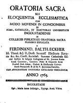 Oratio sacra