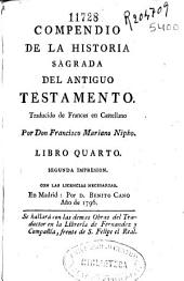 Compendio de la Historia Sagrada del Antiguo Testamento