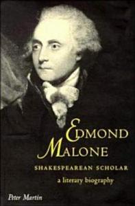 Edmond Malone  Shakespearean Scholar PDF