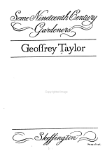 Some Nineteenth Century Gardeners