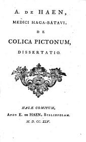 De colica pictonum, dissertatio