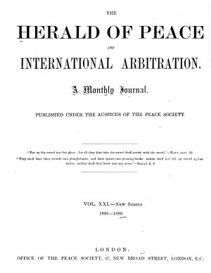 The Herald of Peace and International Arbitration PDF