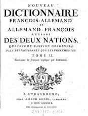 Nouveau Dictionnaire Allemand Fran  ois Et Fran  ois Allemand    L Usage Des Deux Nations PDF