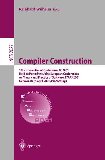 Compiler Construction PDF