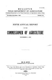 Texas Department of Agriculture Bulletin: Volume 28
