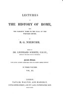 Lectures on the History of Rome PDF