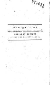 La mort de Robespierre, tragédie en trois actes et en vers, avec des notes où se trouvent des particularités inconnues, relatives aux journées de septembre et au régime intérieur des prisons; notamment une relation complète de l'abbé Sicard, et des anecdotes concernant Gandolphe, secrétaire de M. Montmorin, M.me Beauharnais, Chatria, Béhourt et un soldat suisse qui, pour échapper à la mort, le 10 août, s'était caché dans une des cheminées du château; et beaucoup d'autres. Ouvrage précédé du poème de l'Anarchie en 1791 et 92, et suivi de quatorze dialogues entre les personnages les plus célèbres dans la Révolution, par leurs vertus ou par leurs crimes ... Par