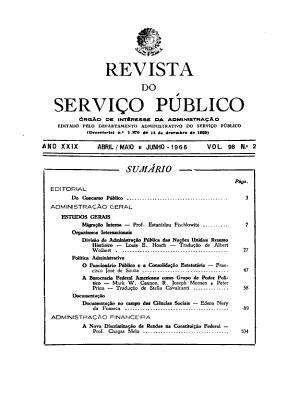 Revista do servi  o p  blico PDF