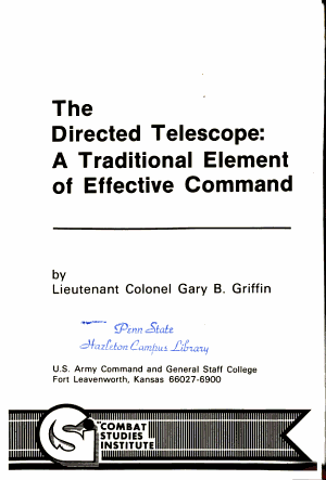 The Directed Telescope