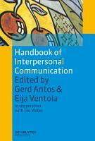Handbook of Interpersonal Communication PDF