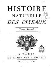 Histoire naturelle des oiseaux: tome second