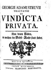Tractatio De Vindicta Privata