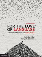 For the Love of Language PDF