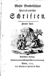 Moses Mendelssohns Philosophische Schriften: Band 1