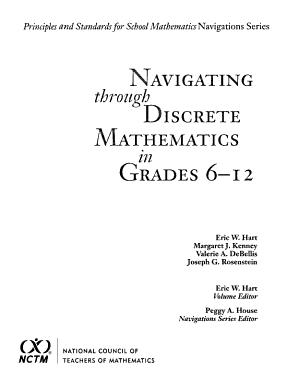 Navigating Through Discrete Mathematics in Grades 6 12 PDF