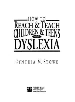 How To Reach and Teach Children and Teens with Dyslexia PDF
