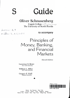 Principles of Money Banking and Financial Markets S G PDF