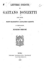 Lettere inedite di Gaetano Donizetti