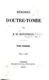 Mémoires d'outre-tombe: Volumes1à4