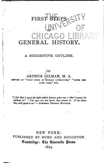First Steps in General History PDF