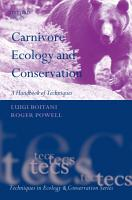 Carnivore Ecology and Conservation PDF