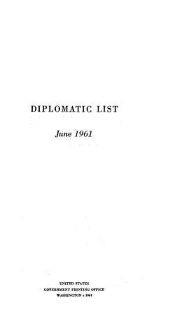 Diplomatic List PDF