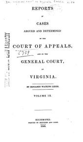 Cases Decided in the Supreme Court of Appeals of Virginia: Volume 36