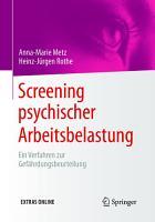 Screening psychischer Arbeitsbelastung PDF