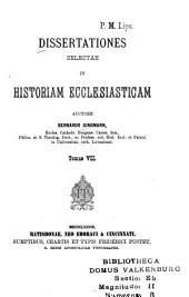 Dissertationes selectae in istoriam ecclesiasticam: Volume 7