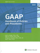 GAAP Handbook of Policies and Procedures  2020  PDF