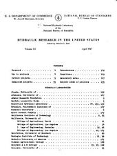 Hydraulic research in the United States: Volume 11