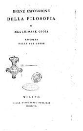 Breve esposizione della filosofia di Melchiorre Gioia raccolta dalle sue opere