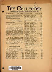 The Collector: A Monthly Magazine for Autograph and Historical Collectors, Volume 18, Issue 1