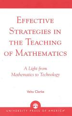 Effective Strategies in the Teaching of Mathematics