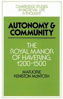Autonomy and Community PDF