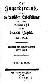 """""""Albrechts von Haller"""" Schriften: Erster Theil. Erster Band, Volume 2"""