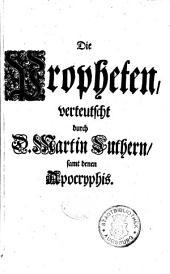 Biblia, Das ist, Die gantze Heilige Schrifft Altes und Neues Testaments: Altes Testament, Teil 2, Band 2