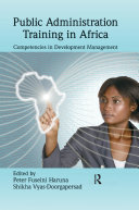 Public Administration Training in Africa