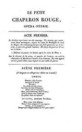 Le petit chaperon rouge: opéra-féerie, en trois actes et en prose