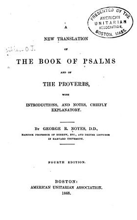 A New Translation of the Book of Psalms and of the Proverbs PDF